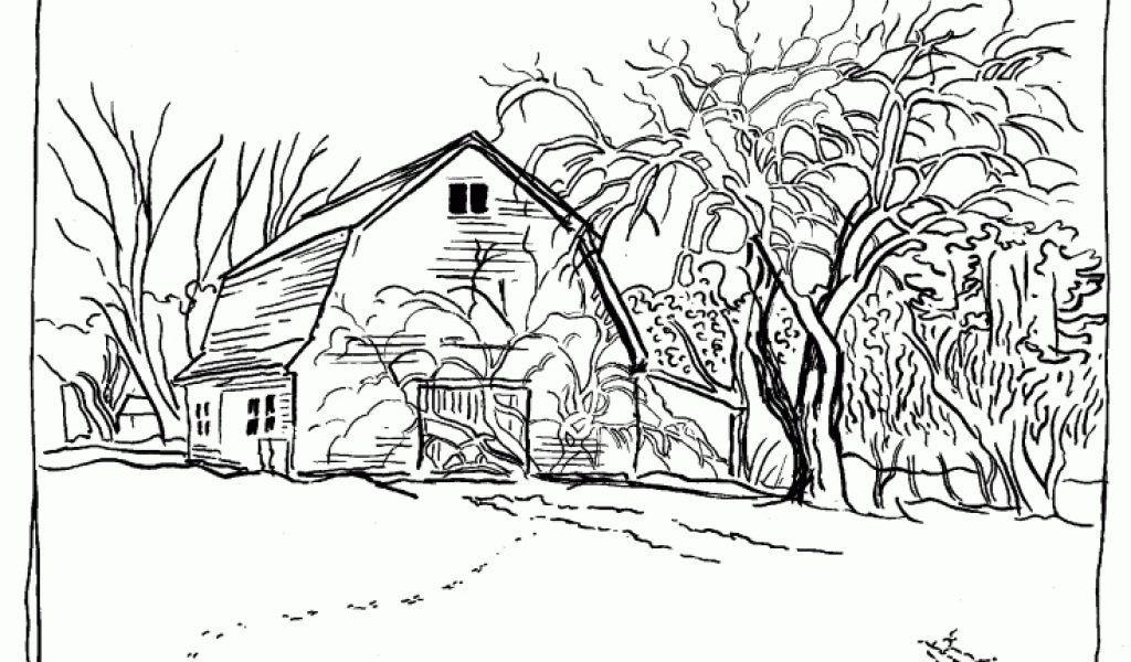 Free Adult Coloring Pages Landscapes AZ Coloring Pages