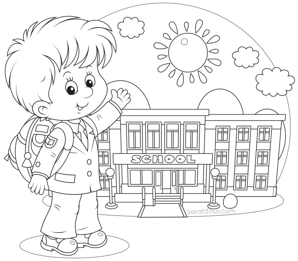 Wele To School Coloring Page
