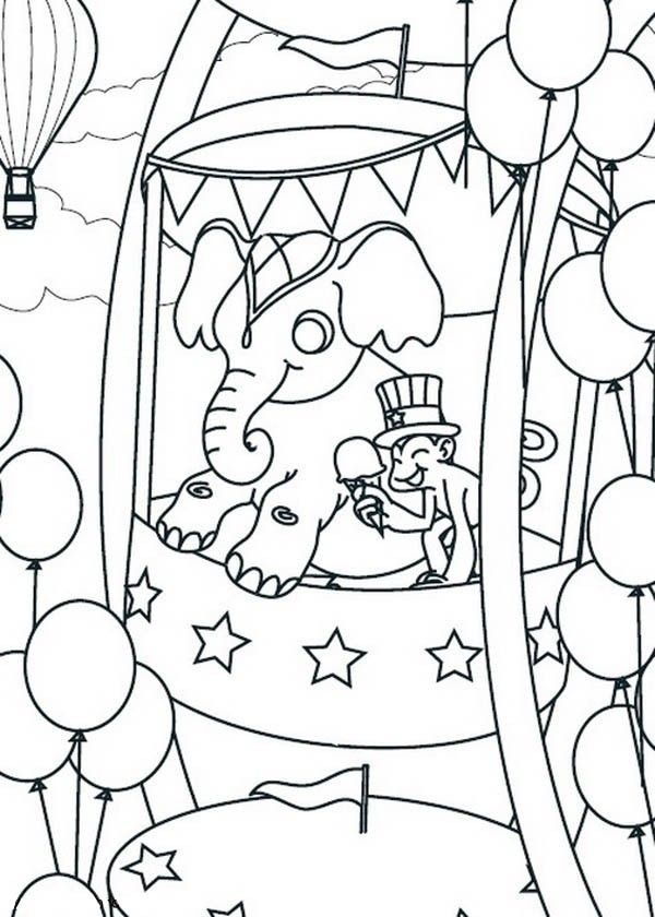 Ferris Wheel Coloring Page Coloring Home