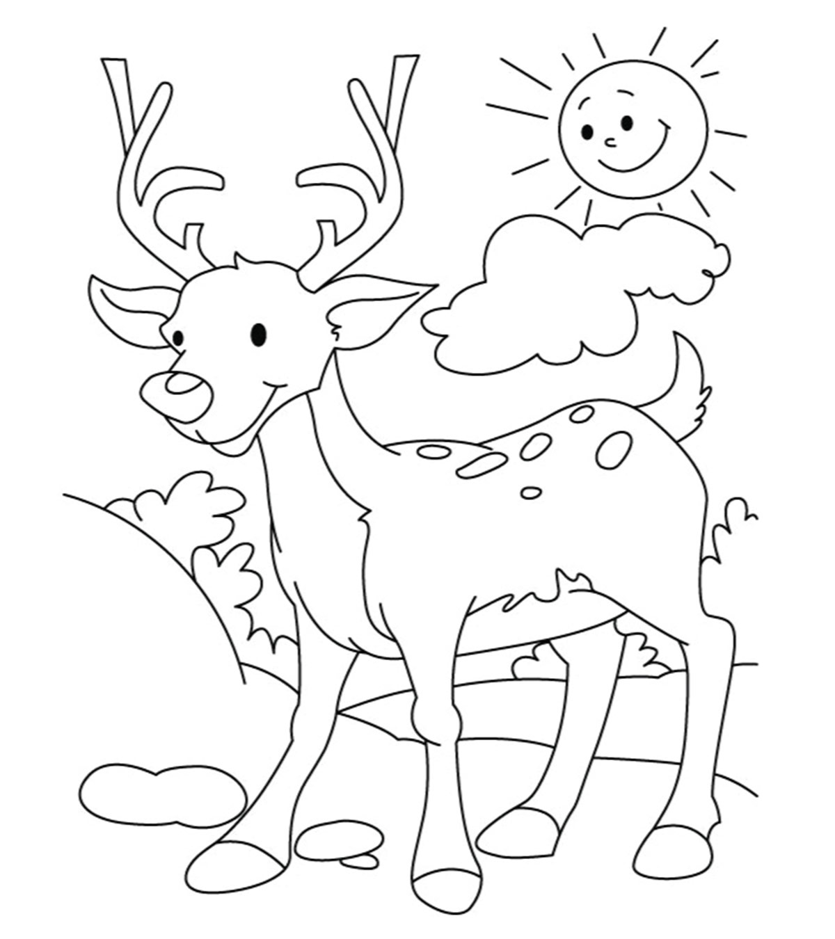 Dear Coloring Pages Coloring Home