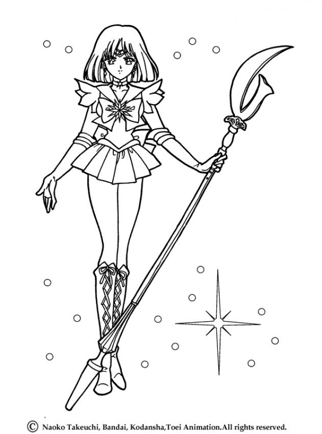 sailor moon coloring pages sailor saturn in her original uniform
