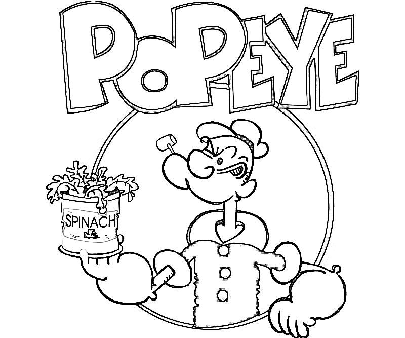 Popeye Cartoon Color Pages