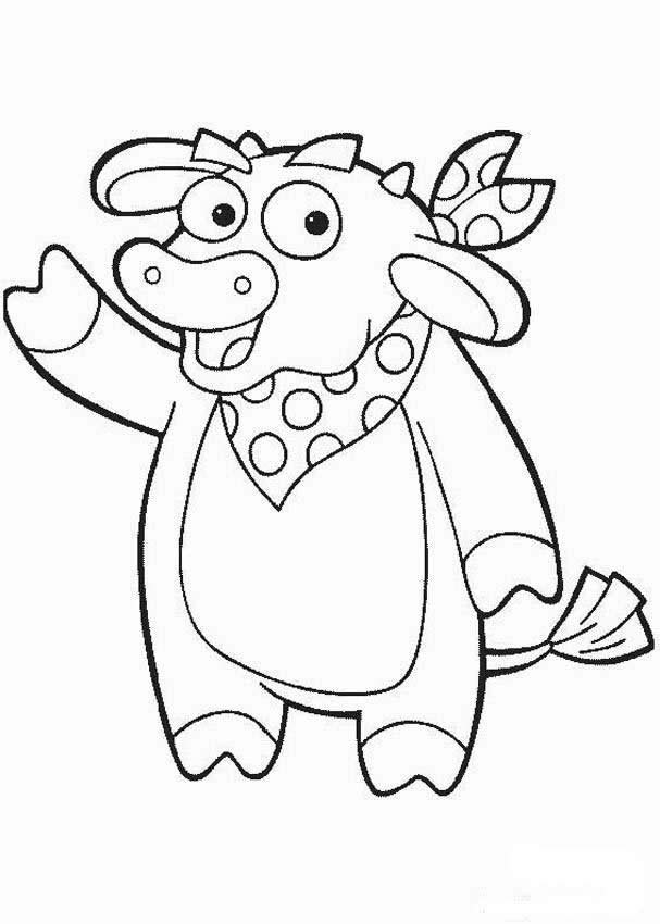 DORA THE EXPLORER Coloring Pages   Benny The Bull