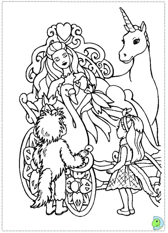 swan pages coloring - photo#30