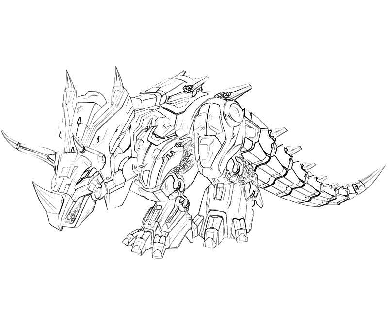 Optimus Prime On A Dinosaur Coloring Pages