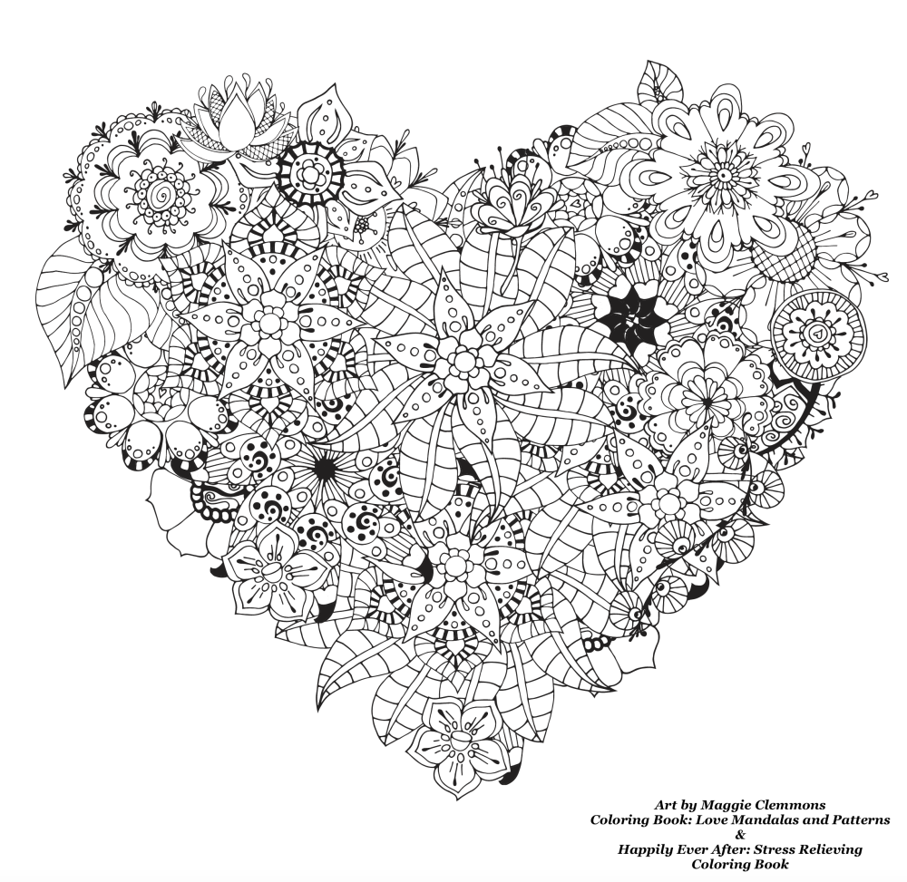 Free Coloring Pages For Adults Love