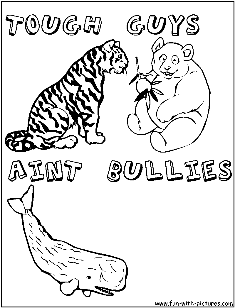 13 Pics of Bully Cartoon Coloring Page - Anti-Bullying Coloring ...