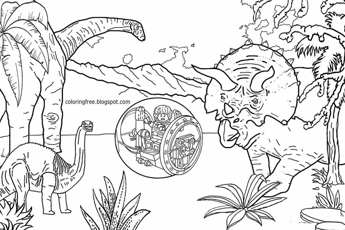 8 Pics Of LEGO Jurassic World Coloring Pages Printable