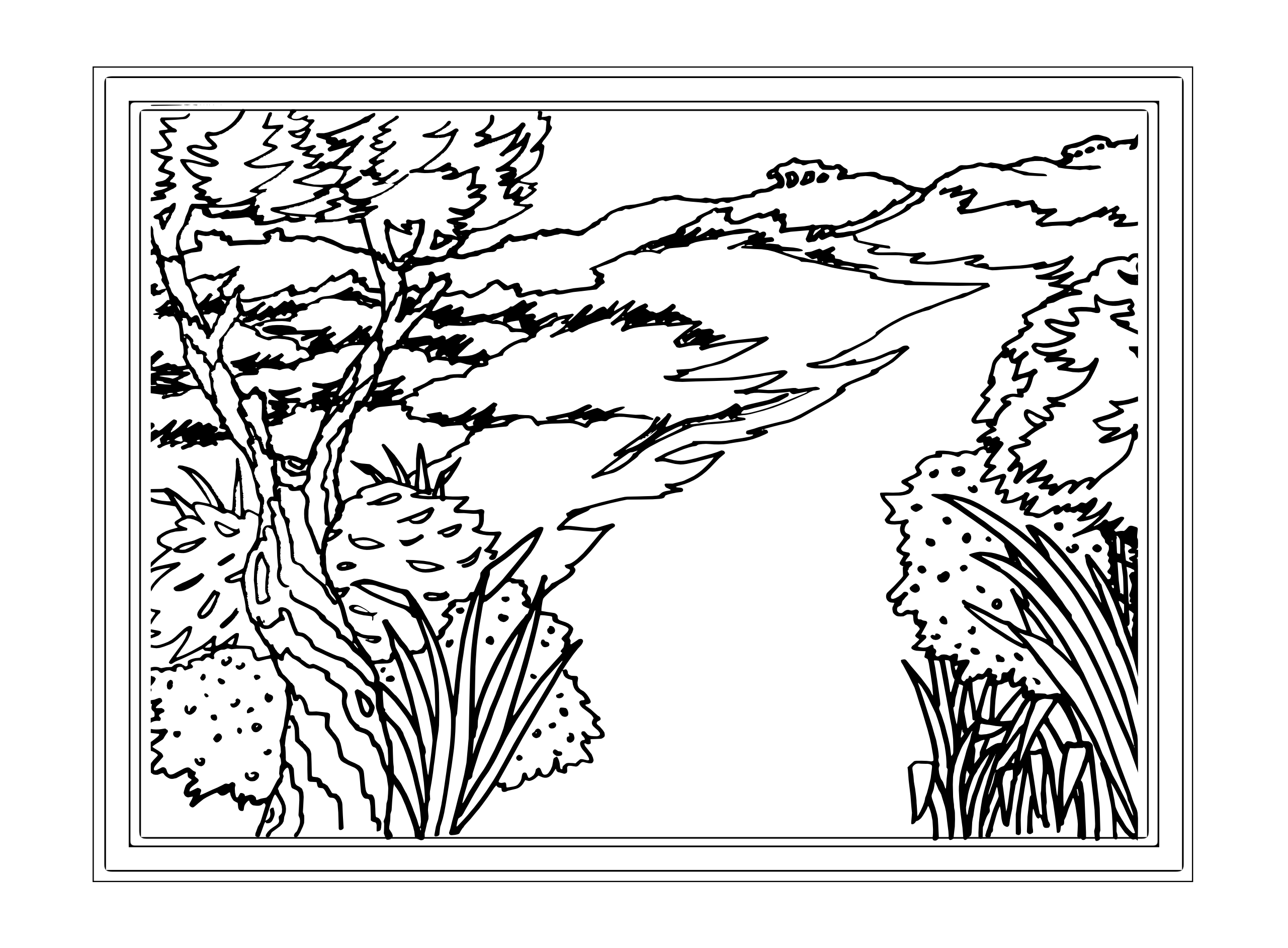 10 Pics Of Detailed Landscape Coloring Pages Free Adult Coloring Home