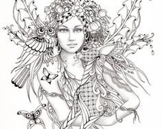 Fantasy Art Coloring Pages For Adults - Coloring Home