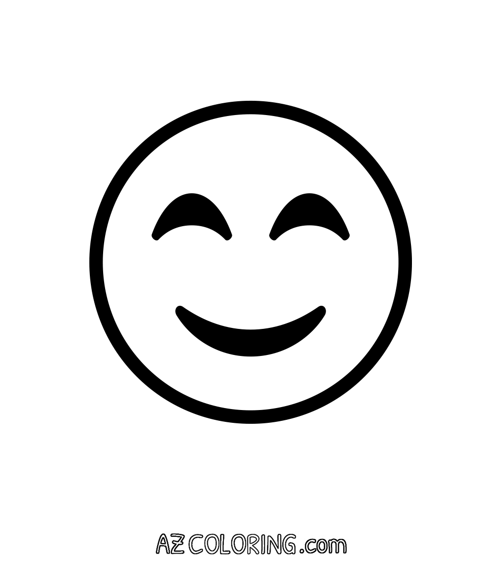 Coloring pages eyes - Smiling Face With Smiling Eyes Emoji Coloring Page