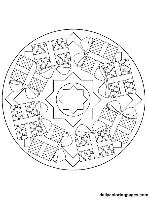 Christmas Mandala Coloring Pages