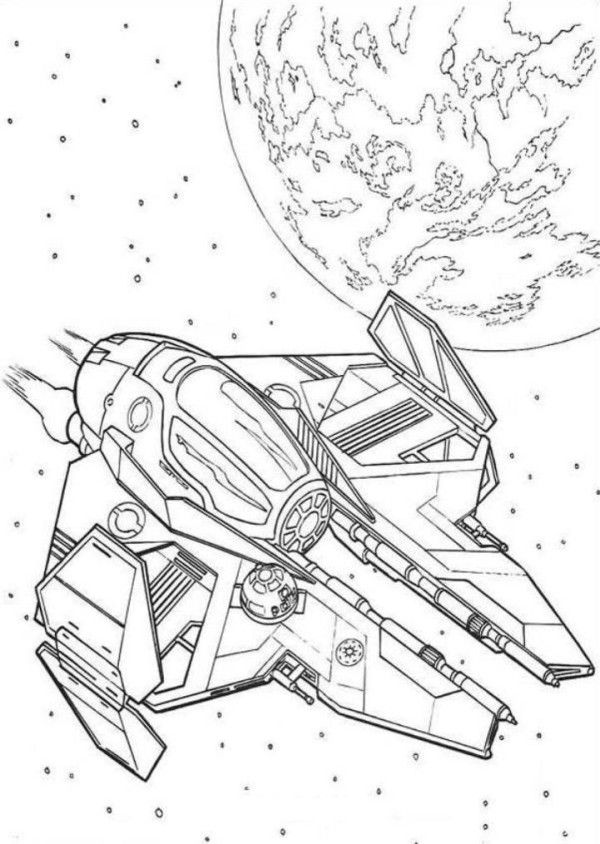 Spaceship Coloring Pages : Simple Millenium Falcon Star Wars Ship ...