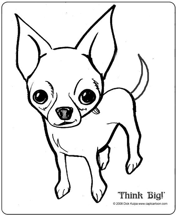 chihuahua coloring pages online - photo#41