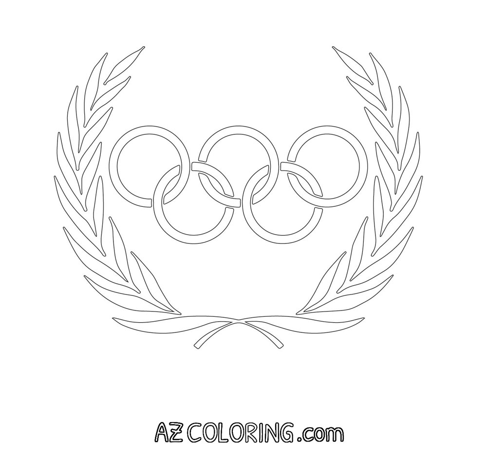 Olympic Rings Coloring Page Coloring Home Olympic Rings Coloring Page
