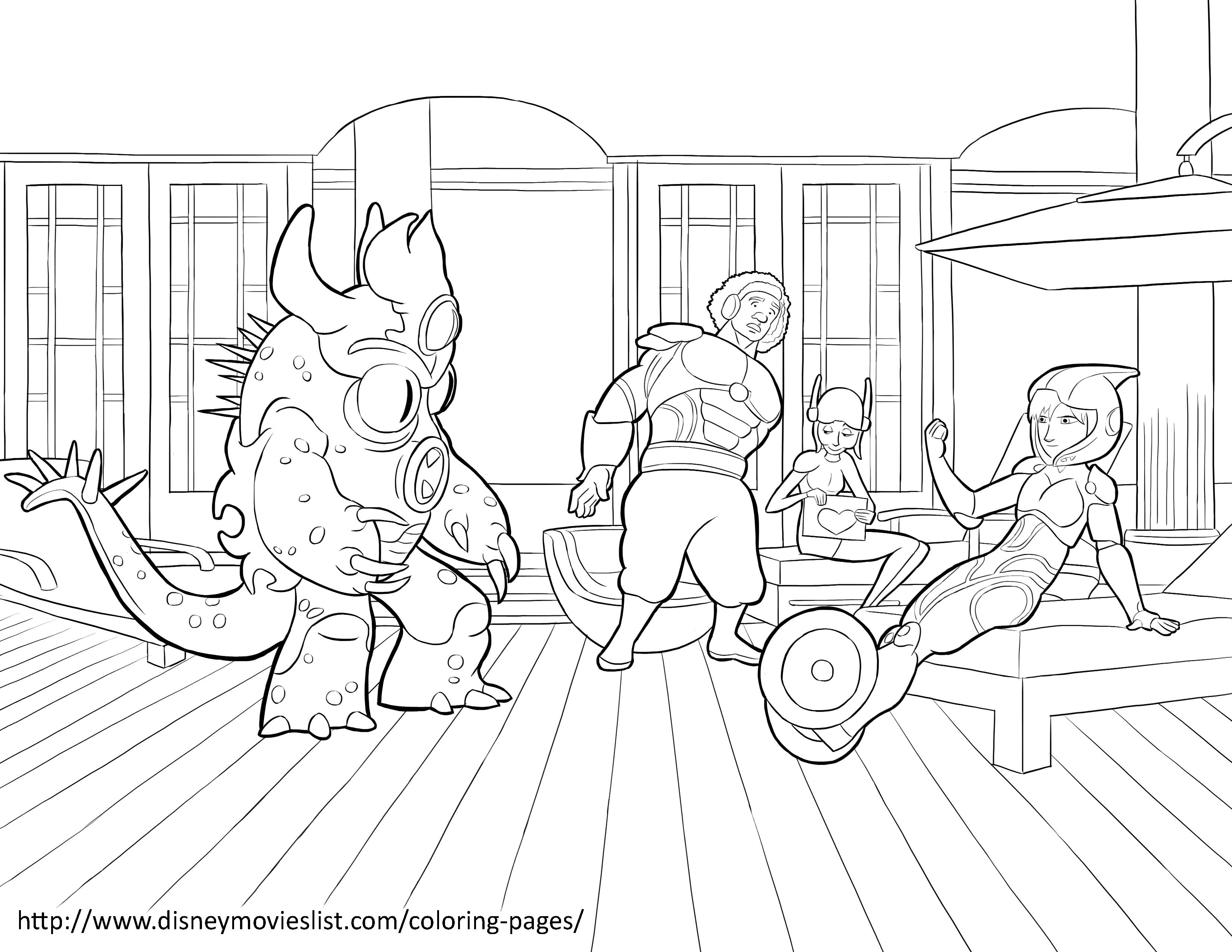 Big Hero 6 Coloring Pages Coloring Home