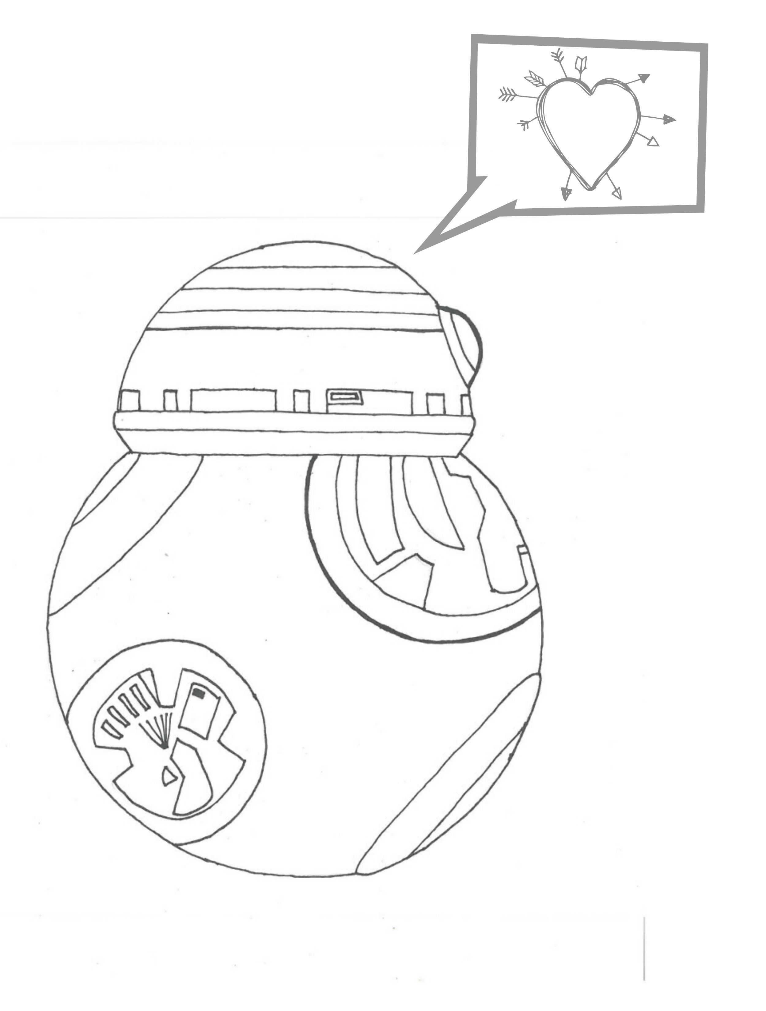 Coloring Pages Bb 8 : BB8 Coloring Pages AZ Coloring Pages