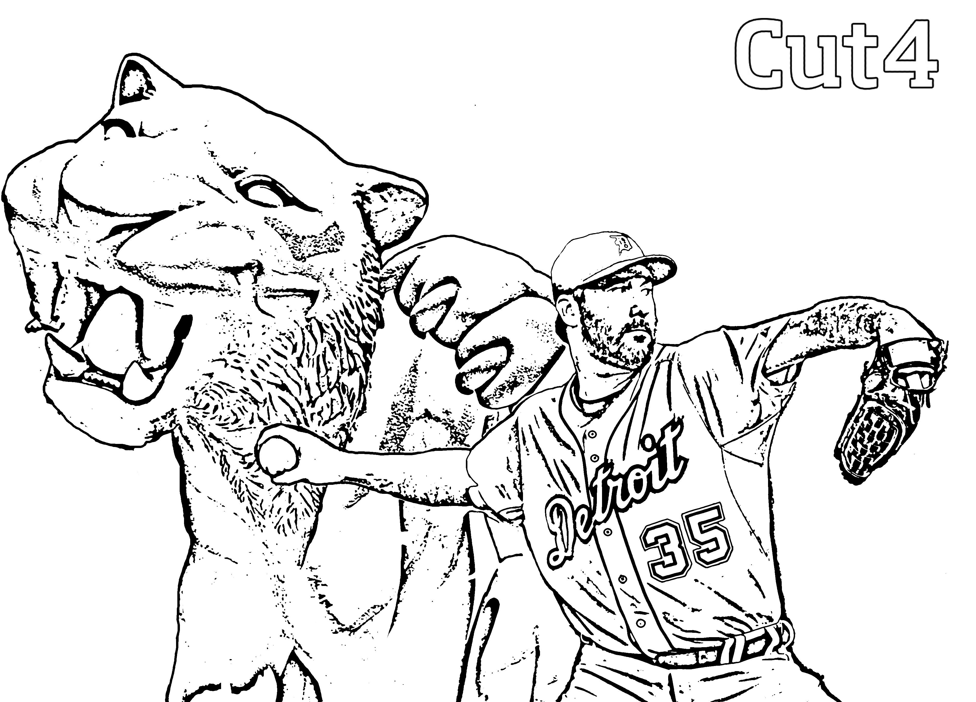 detroit tiger coloring pages - photo#5