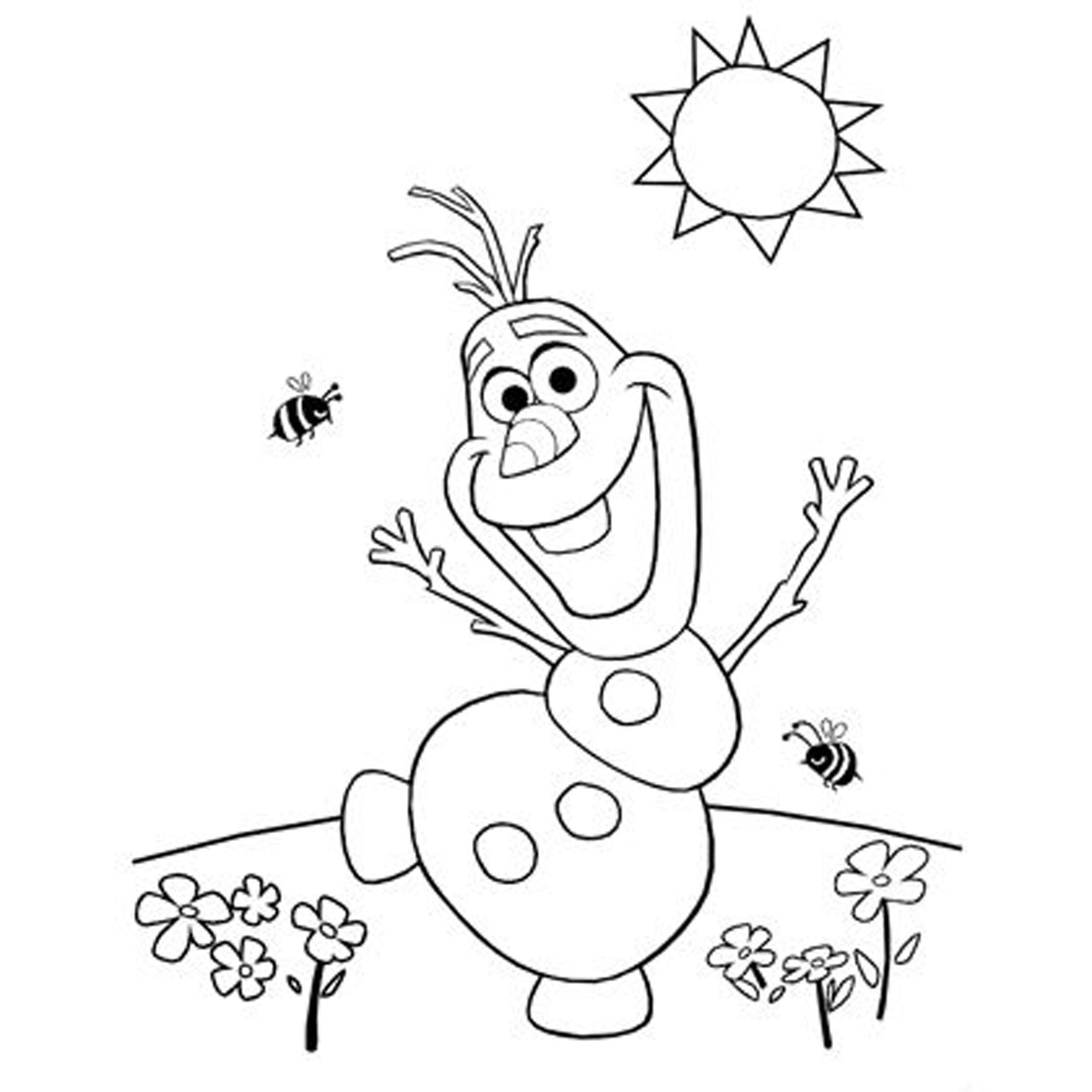 14 Pics Of Printable Christmas Coloring Pages Olaf