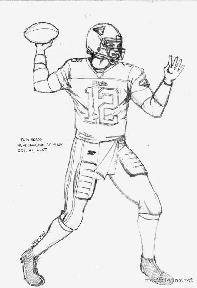 Tom Brady Coloring Pages Printable - AZ Coloring Pages