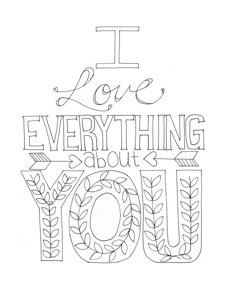 Free Coloring Pages I Love You Coloring Home