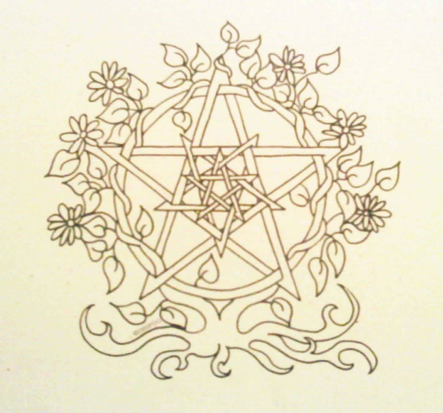 free wiccan coloring pages - photo#2