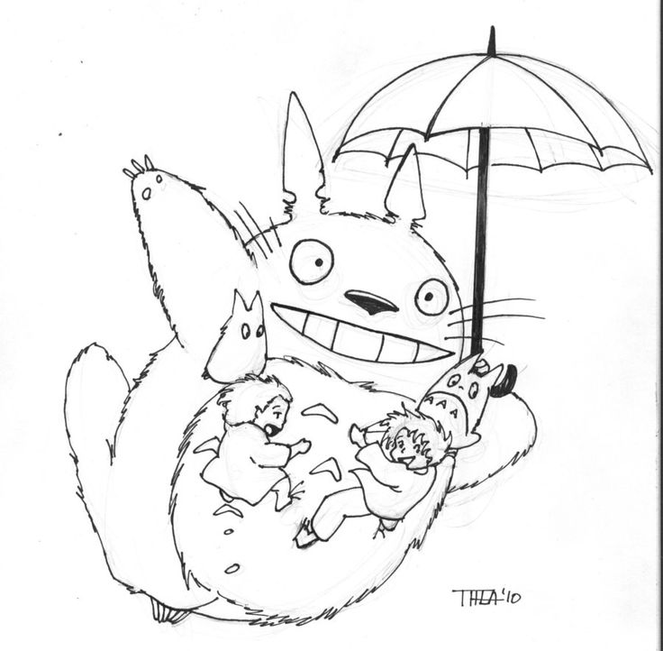 Totoro Coloring Pages To Download And Print For Free Coloring Home