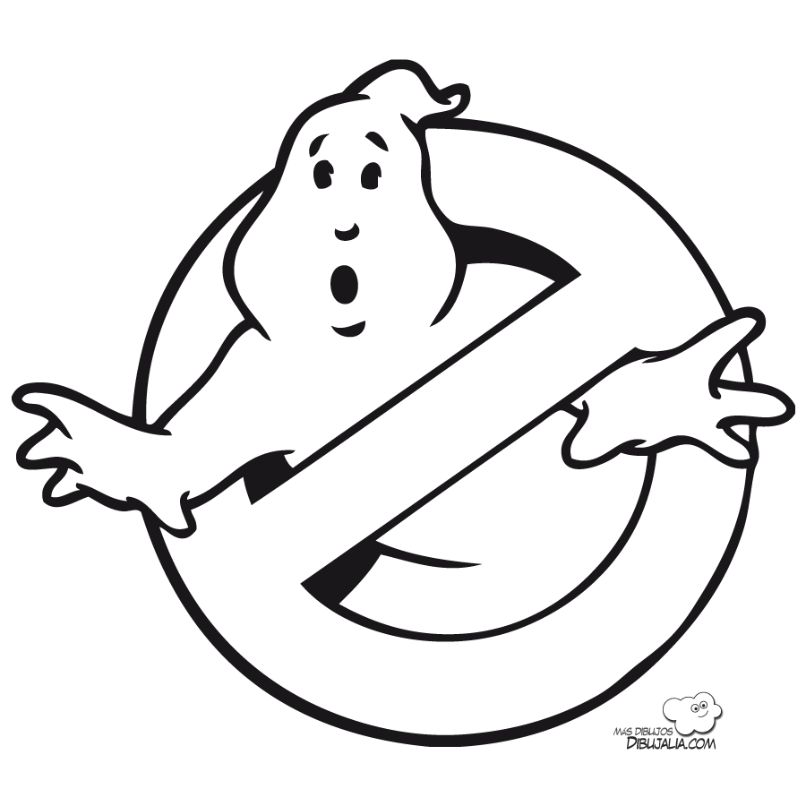 Ghostbusters Coloring Pages Disfraz De Logo De Cazafantasmas - ghostbusters coloring pages online