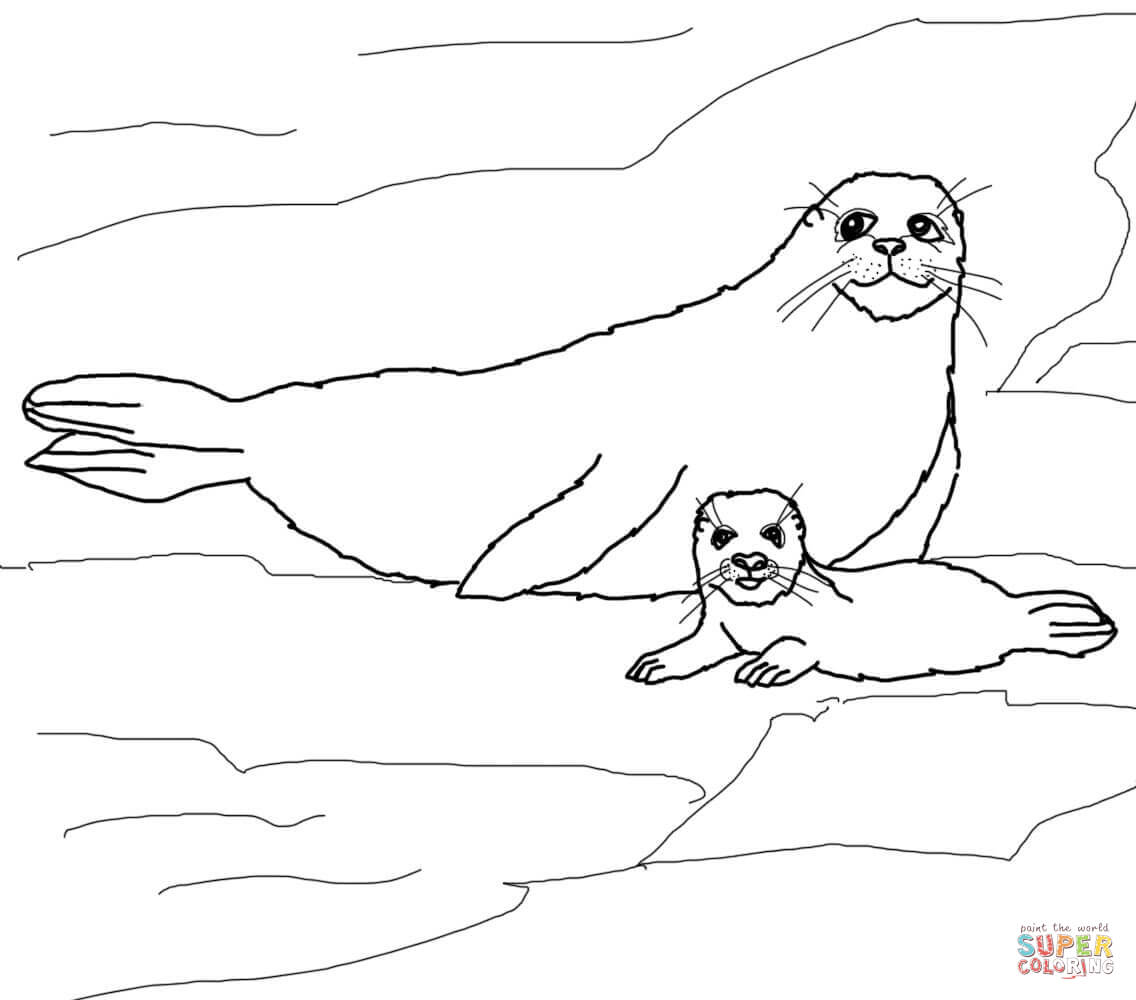 seal mask coloring pages - photo#24