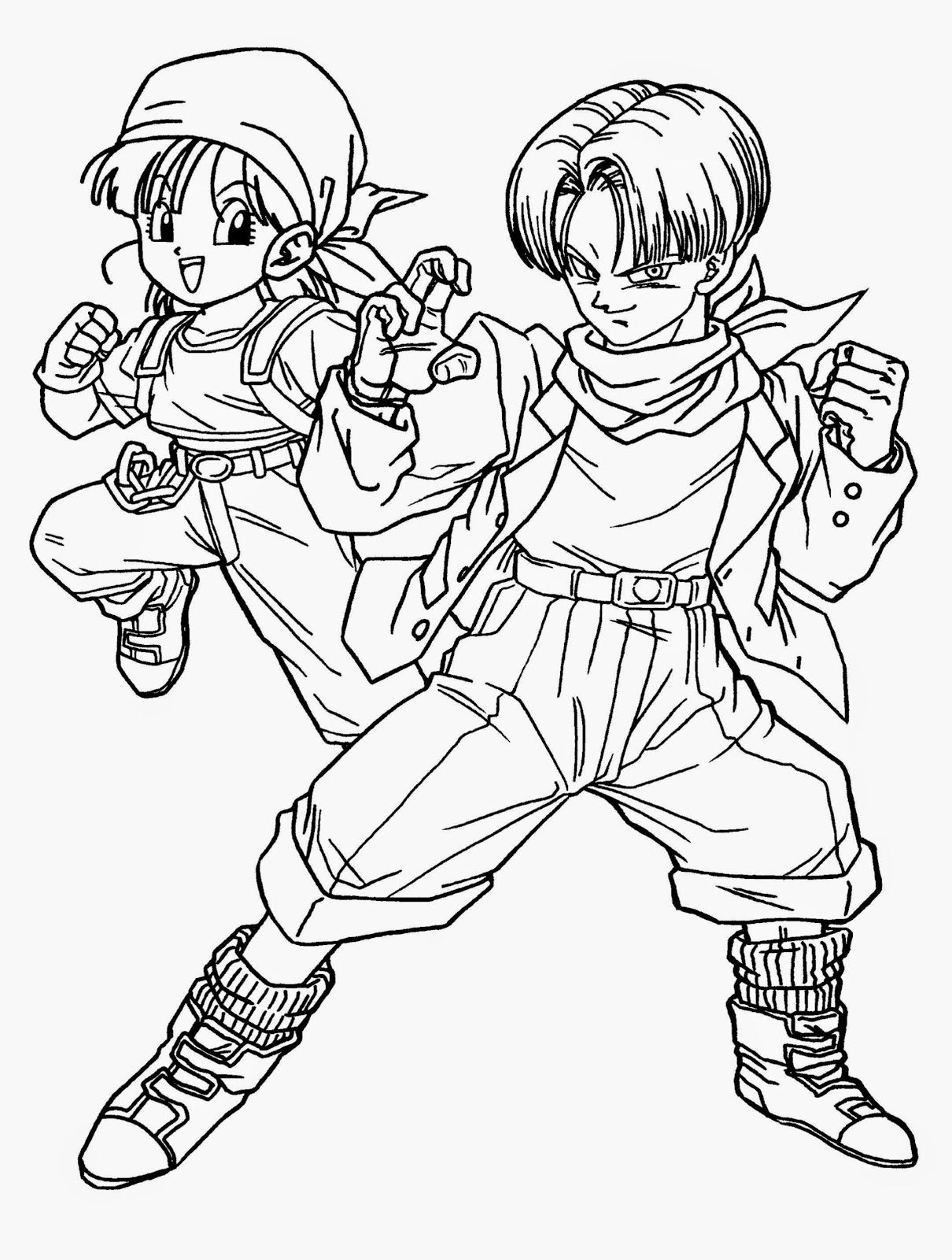 dragon ball z coloring book free coloring pages