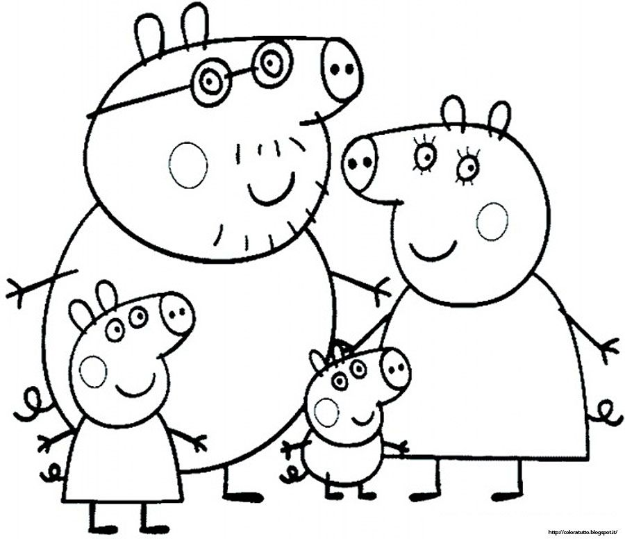 Free peppa pig printable coloring pages coloring home for Coloring pages peppa pig