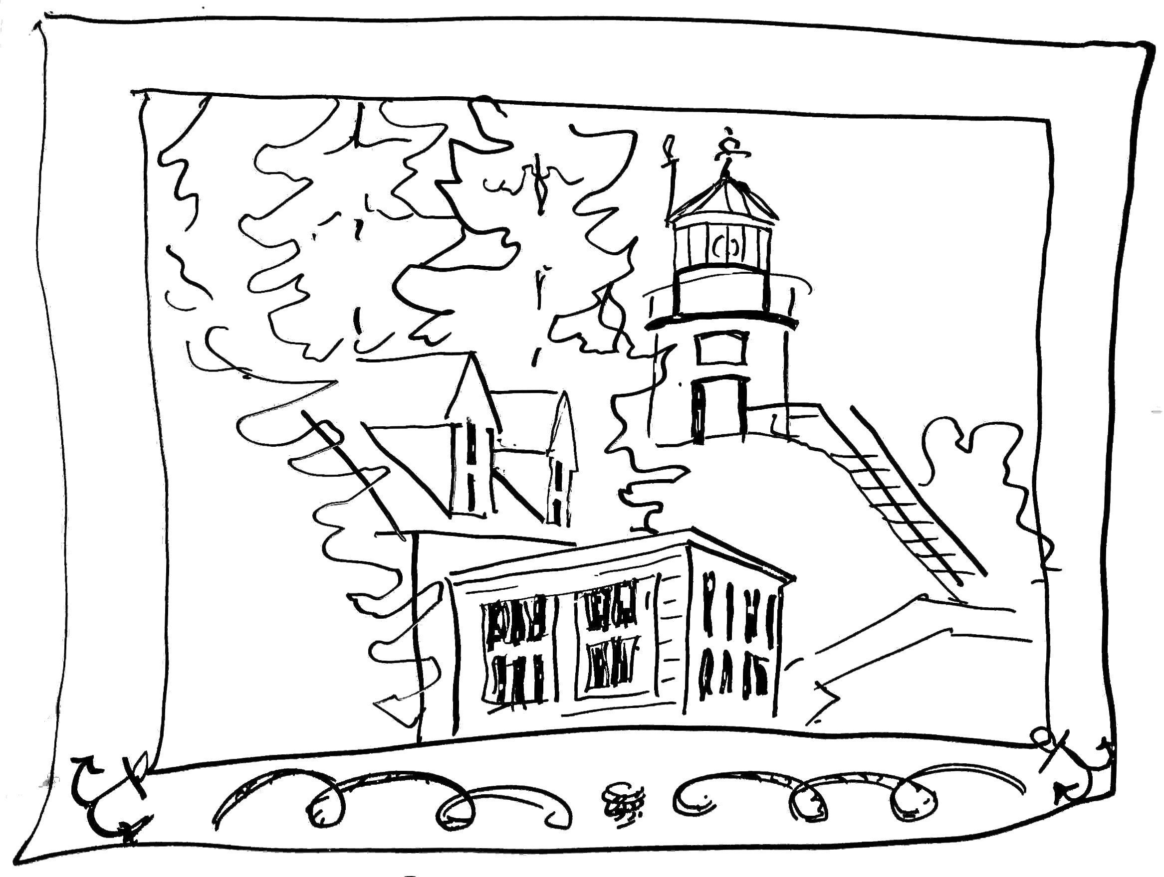 Printable Coloring Pages Of Lighthouses - Coloring Home
