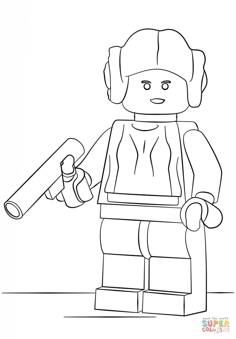Star Wars Legos Coloring Pages Princess Leah - Coloring Home