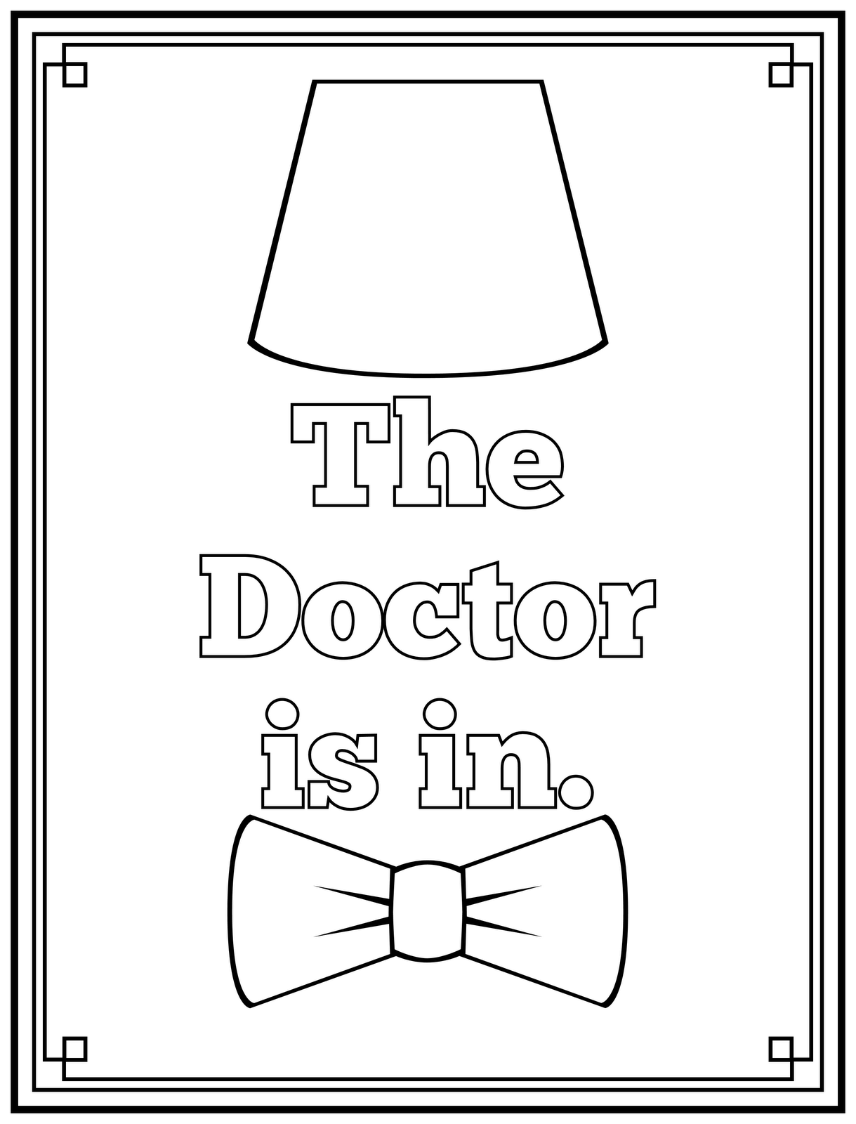 Free doctor who coloring pages coloring home