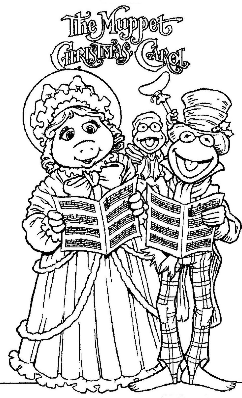 christmas carol coloring pages muppets coloring pages print free coloring home