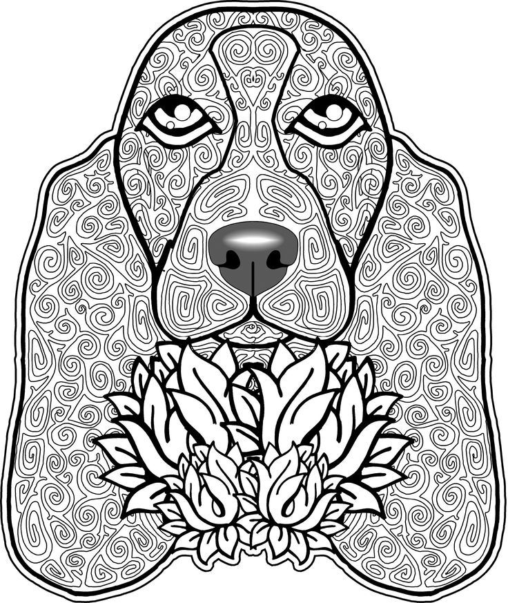 coloring pages of puppies hard - photo#44