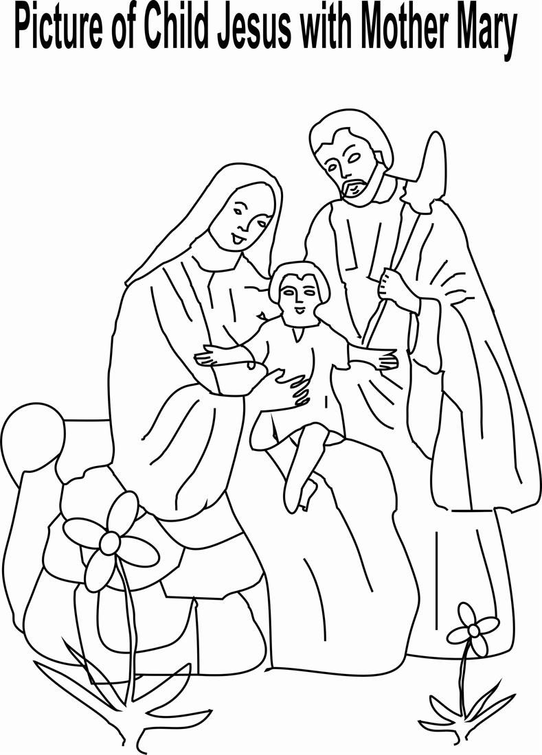 Coloring Page Of Joesph And Mary - Coloring Home
