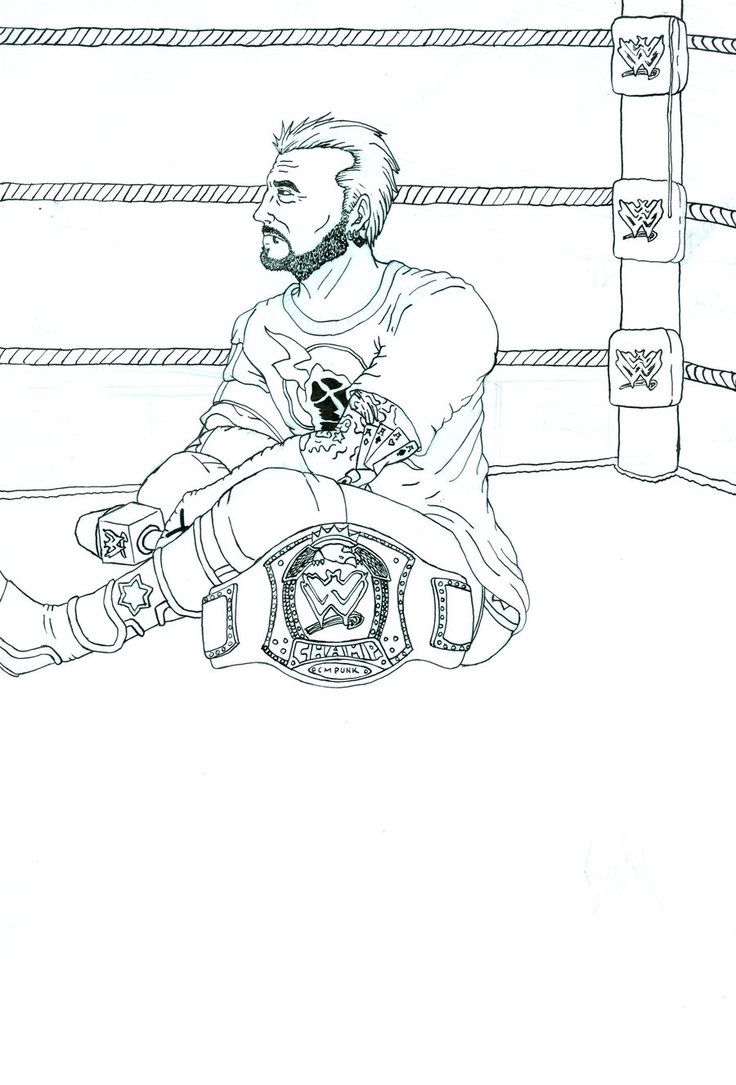 Coloring Pages Cm Punk Coloring Pages wwe coloring pages cm punk az for kids and adults