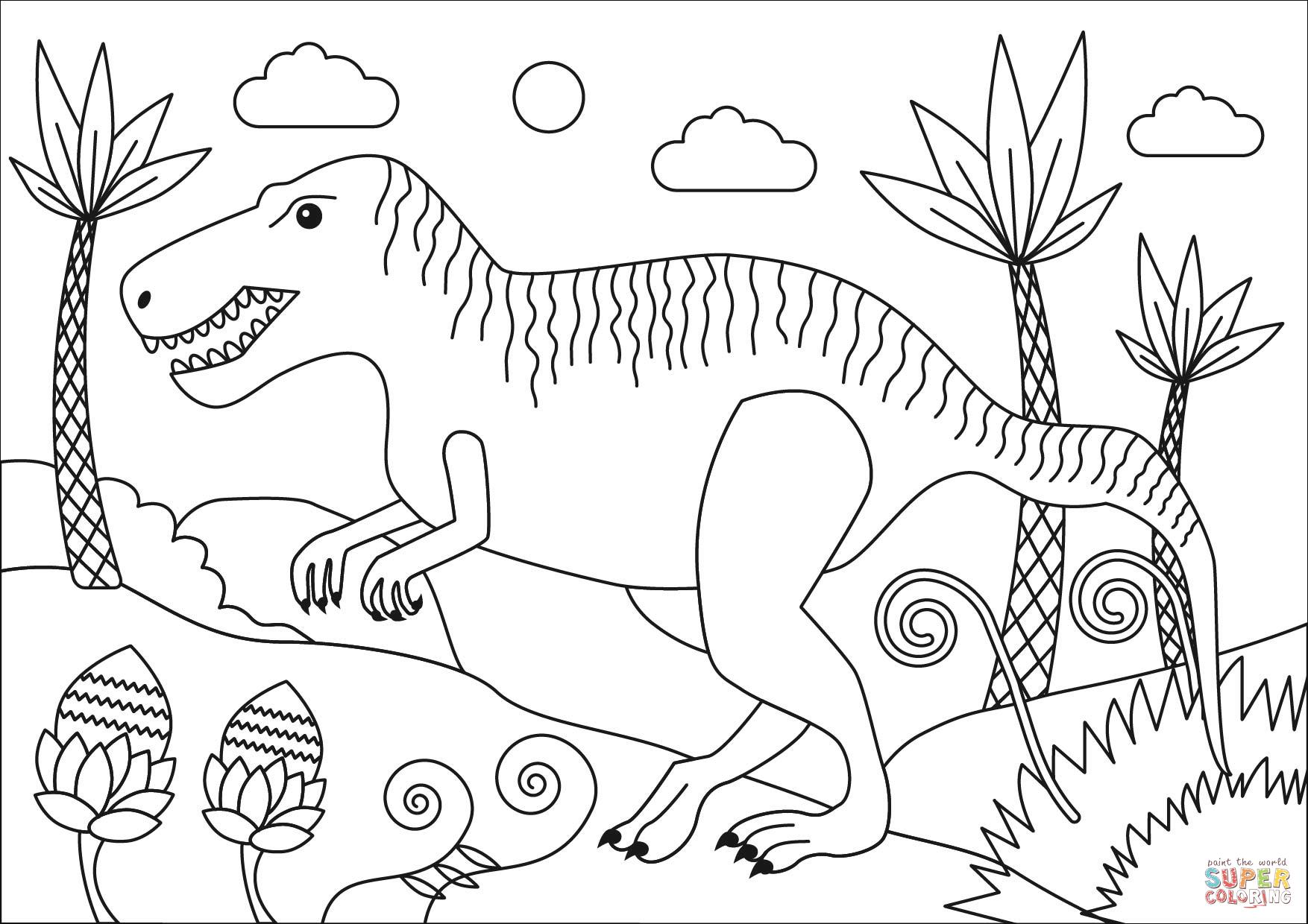 Indoraptor Coloring Pages Coloring Home