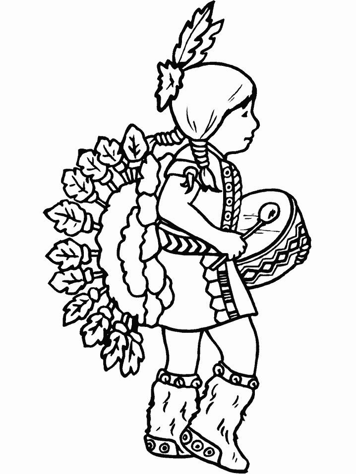 Native American Thanksgiving Coloring Page Coloring Home