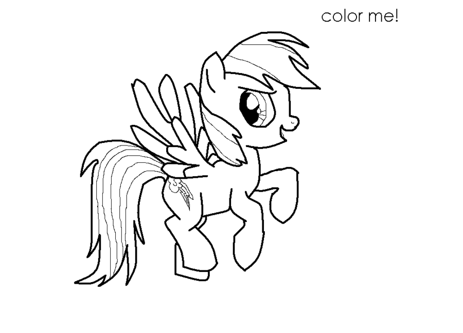 Rainbow Dash Printable Coloring Pages For Kids And For Adults
