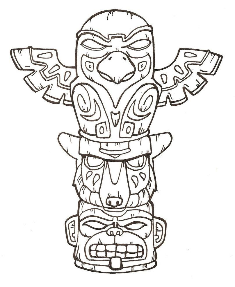 Tiki Mask Coloring Page Az Coloring Pages Tiki Mask Coloring Pages