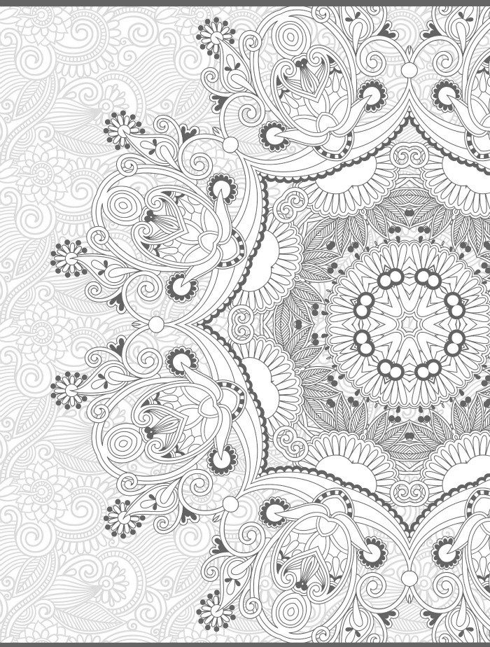 Freeprintable Adult Coloring Pages Paisley - Coloring Home