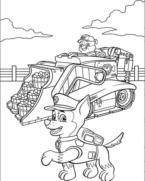 Paw Patrol Chase Police Car Coloring Page Coloring Pages
