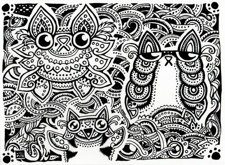 Trippy Coloring Page - Coloring Home