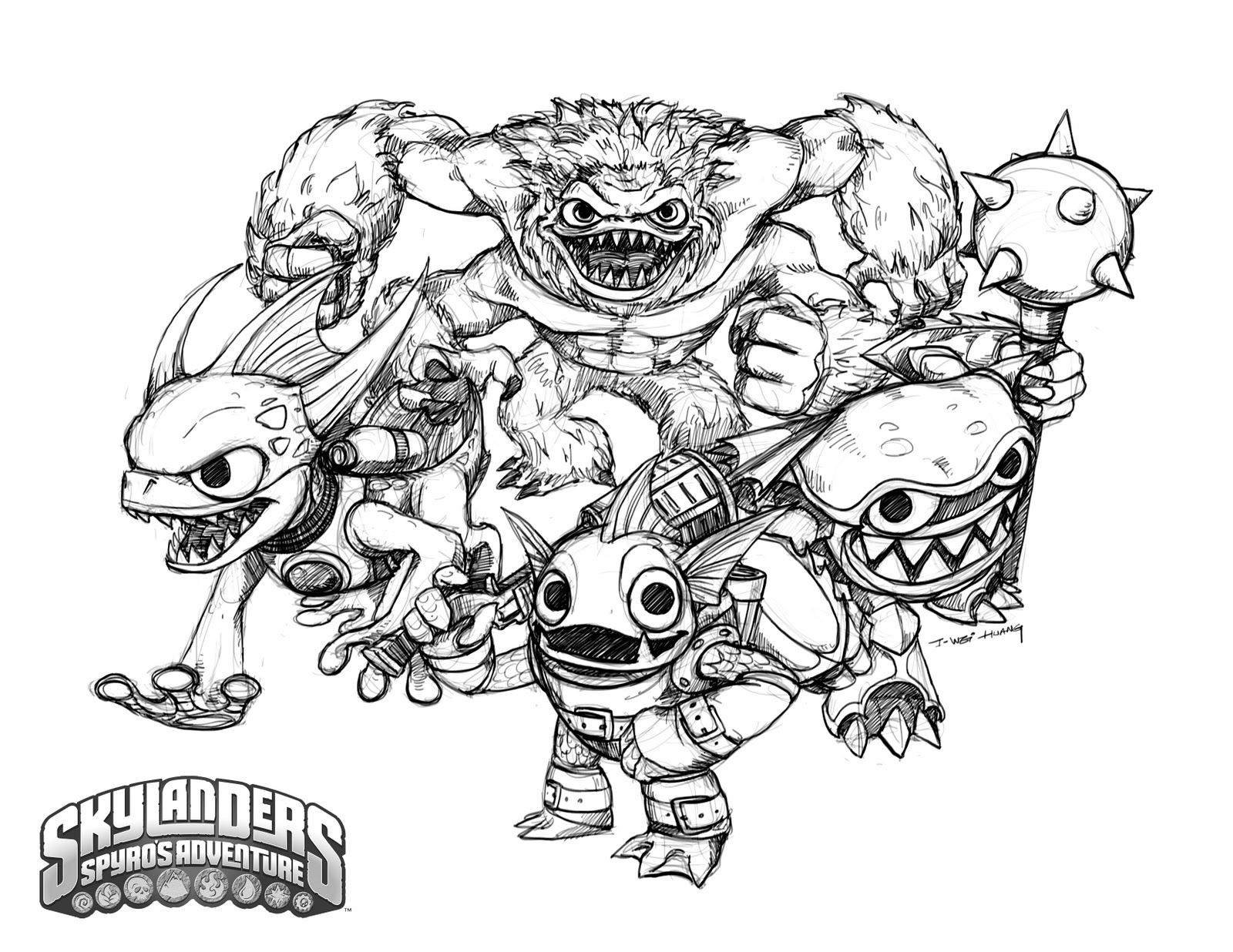 Free coloring pages for skylanders - Online Coloring Pages Skylanders Coloring