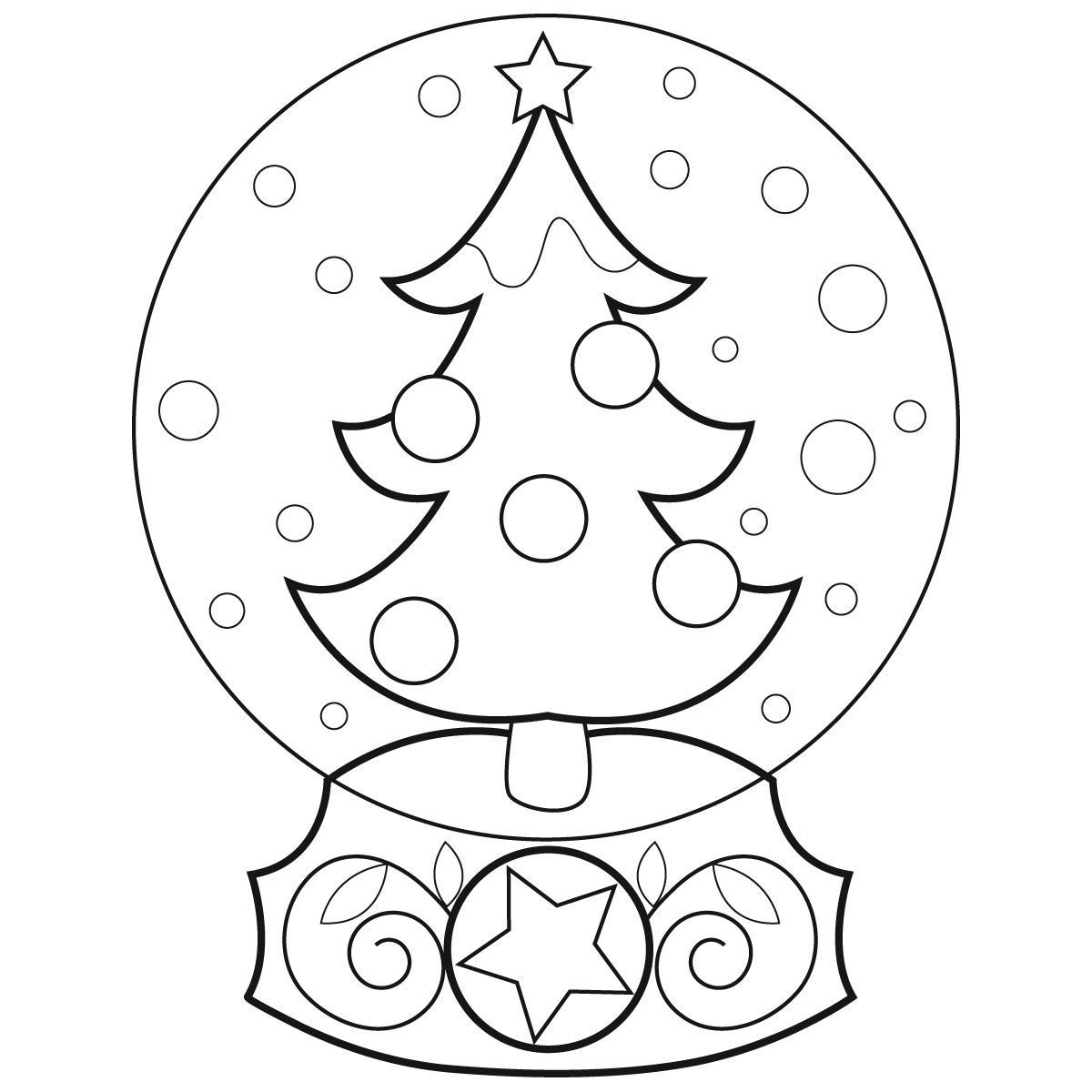 Clip Art Globe Coloring Pages snow globe coloring page az pages christmas for all ages