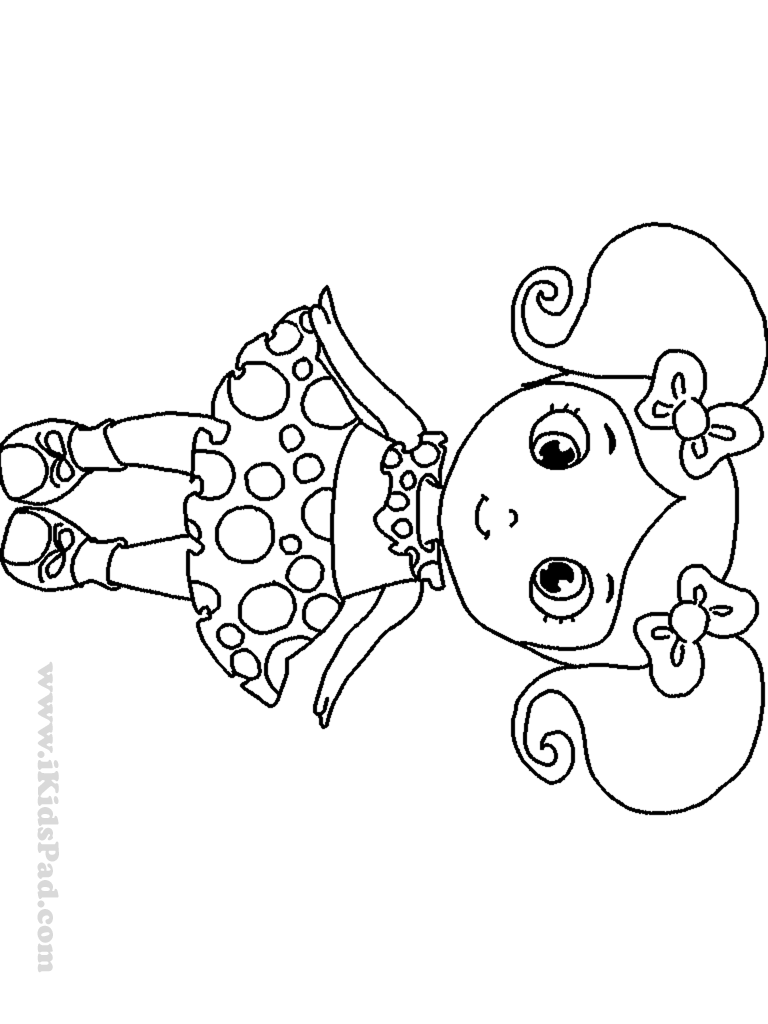 coloring pages of little girl - photo#28