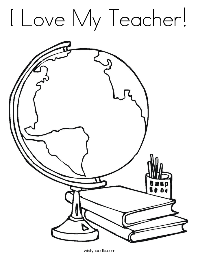 Teacher Appreciation Week Coloring Page - Coloring Home