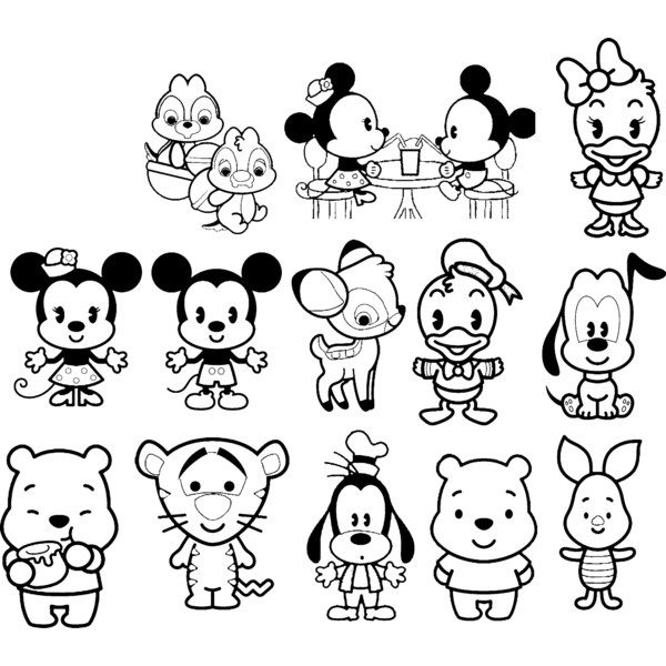 disney cutie coloring pages - photo#30